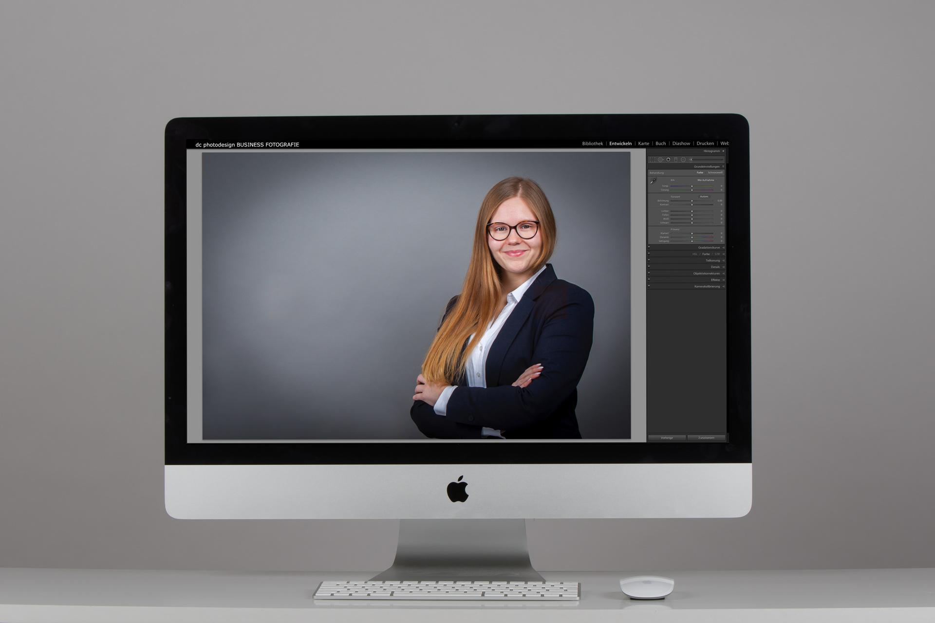 Unsere Bildbearbeitung verleihen wir Ihrem Bewerbungsfoto den letzten Schliff